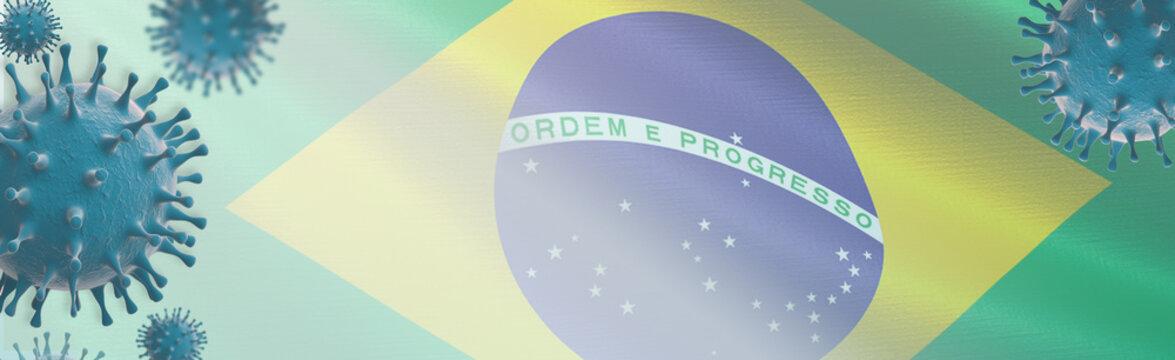 Brazilian variant coronavirus Covid-19 Web Banner design