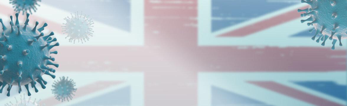English variant coronavirus Covid-19 Web Banner design