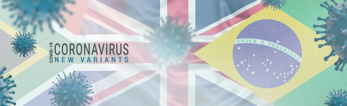 Covid-19 Coronavirus Variants concept - Web banner design