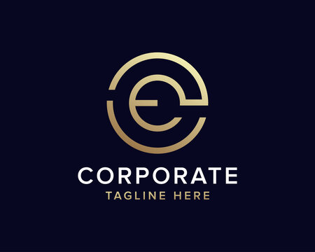 Initial letter CE logo template suitable for businesses and product names. This stylish logo design could be used for different purposes for a company, product, service or for all your ideas.