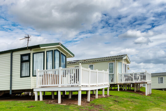Holiday static caravan in holiday park in England