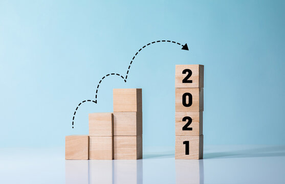 Challenge of 2021 or step to success concepts
