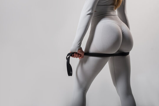 female sports back and buttocks