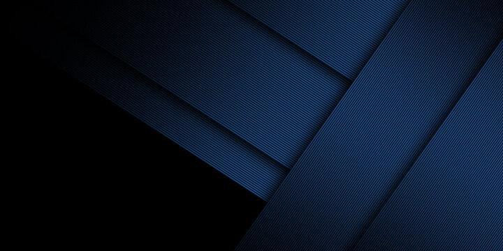 Abstract dark neon blue line background