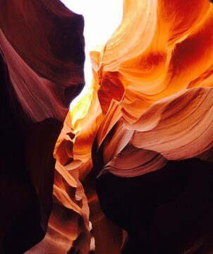 Low Angle View Of Canyon
