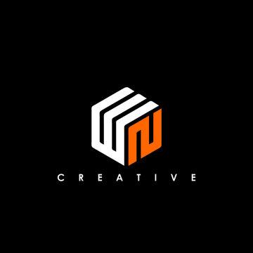 WN Letter Initial Logo Design Template Vector Illustration