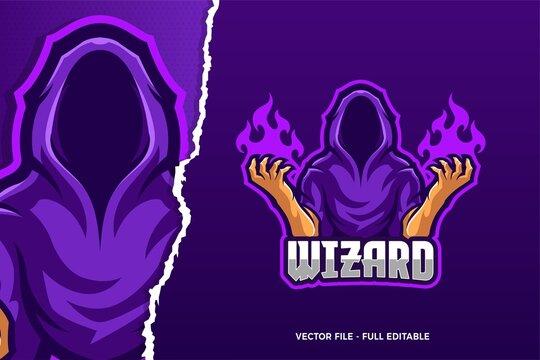 Cloak Wizard E-sport Game Logo Template