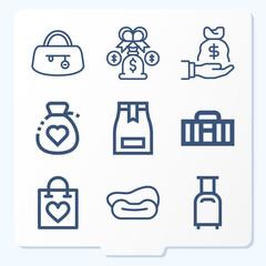 Fototapeta Simple set of 9 icons related to ab obraz