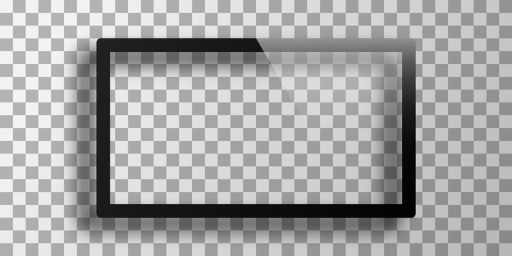 Mockup of frames in black color without a photo