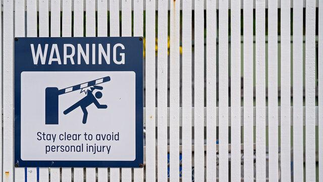 Boom Gate Warning Signage