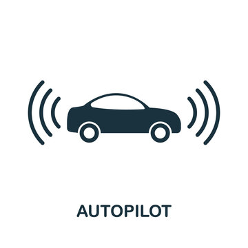 Autopilot icon. Simple element from technology collection. Filled monochrome Autopilot icon for templates, infographics and banners