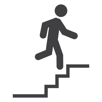Upstairs vector icon