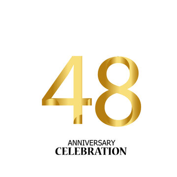 48 YEARS ANNIVERSARY CELEBRATION VECTOR TEMPLATE DESIGN ILLUSTRATION