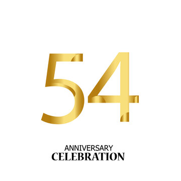 54 YEARS ANNIVERSARY CELEBRATION VECTOR TEMPLATE DESIGN ILLUSTRATION