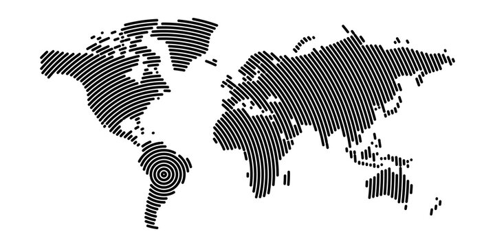 World map modern design
