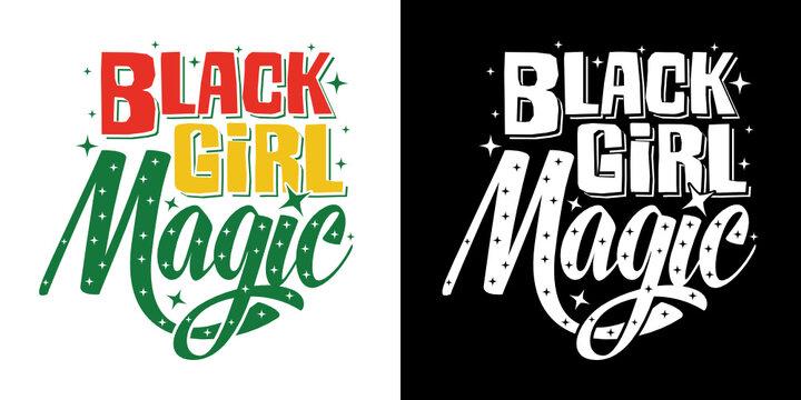 Black Girl Magic SVG Cut File | Beautiful Black Queen Design