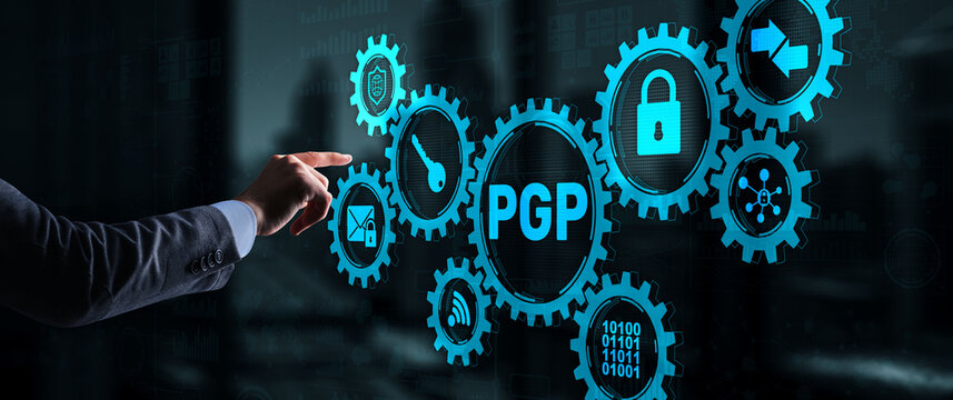 PGP. Pretty Good Privacy. Encryption and Security concept.