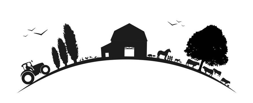 Paysage-agriculture-sur courbe