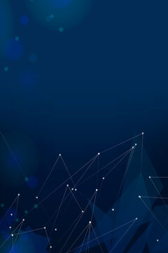 Business background navy vector digital grid