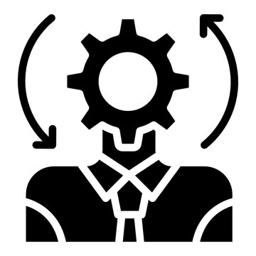 A trendy vector design of administrator icon