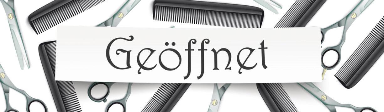 Friseursalon geöffnet