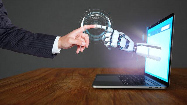 Human and robot contact
