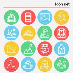 Fototapeta 16 pack of ties  lineal web icons set obraz