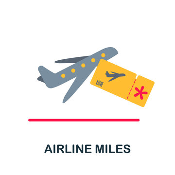 Airline Miles flat icon. Color simple element from customer loyalty collection. Creative Airline Miles icon for web design, templates, infographics and more