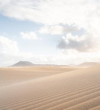 Dunes of Corralejo at Fuerteventura –Spain.