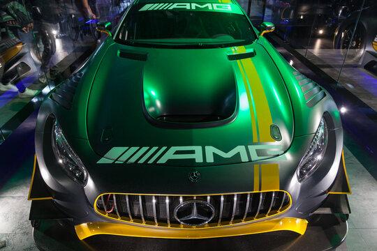 Milan , ITALY - OCT 2018  super sport car at the games week.