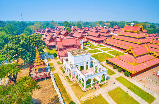 The Fountain Apartments in Mandalay Palace, Myanmar