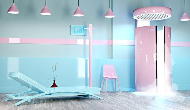 3D cryosauna room