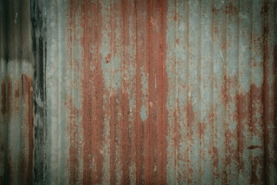 Old and dirty zinc surface for the background
