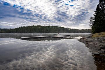 Fototapeta Scenic View Of Lake Against Sky