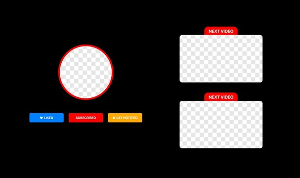 Youtube Video Service template. Next Video. Clean Vector Wireframe For Your Vlog. Next Episode. Vector illustration