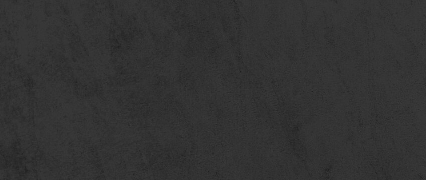 Panorama of Black genuine cow leather texture and seamless background