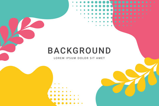 Trendy abstract art background templates with floral and geometric elements. Suitable for social media posts, mobile apps, banners design and web/internet ads. Vector fashion backgrounds Promotion