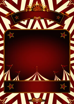 circus poster background A  circus background for a poster with a frame for your message.