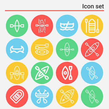 16 pack of taft  lineal web icons set