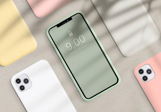 Mobile Phone Screen Mockup Template