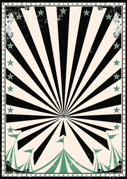 Circus retro sunbeam poster. A circus background for a poster for your show !