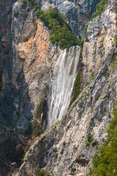Boka waterfall in Julian Alps, Slovenia