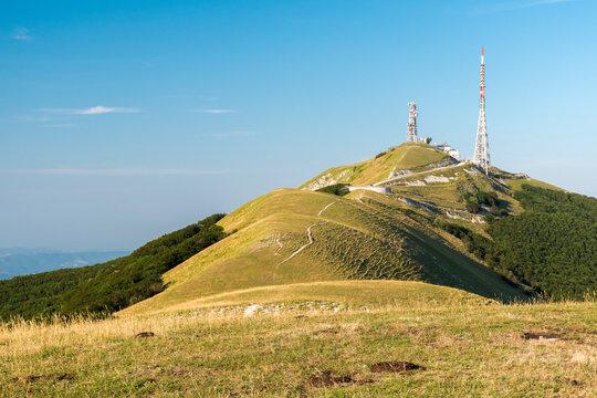 Summit of mount Nerone in the Marche region