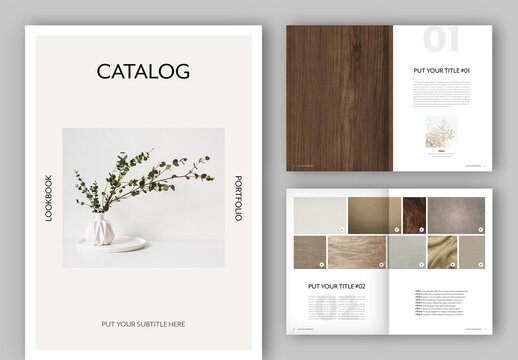 Minimalist Catalog Lookbook Layout