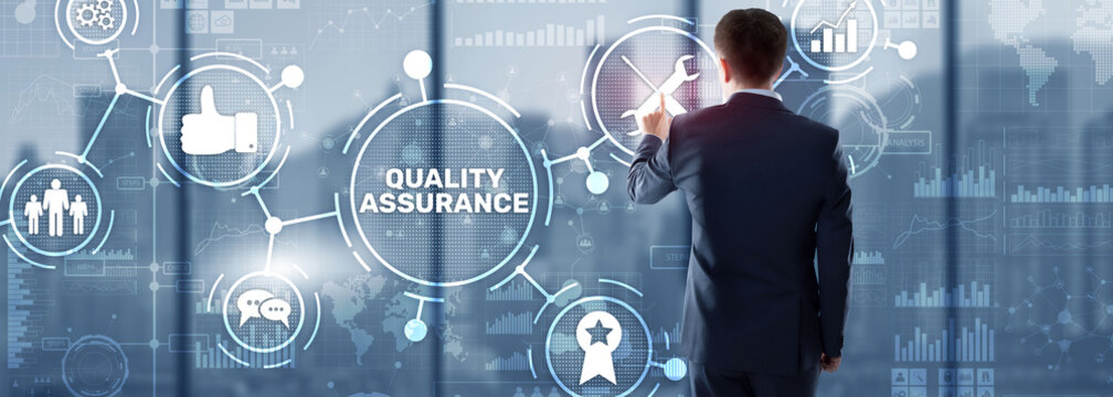 Quality Assurance ISO DIN Service Guarantee Standard Retail Concept.