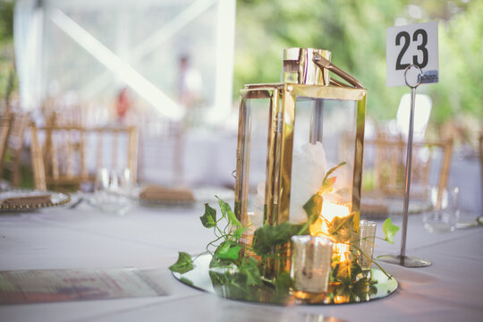 Indian Hindu wedding reception interiors and decorations