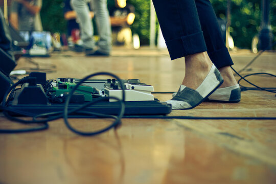 Musician's Feet During Performance