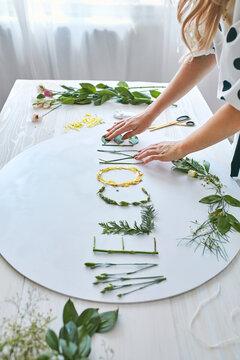 Woman Florist Decorating