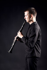 Clarinet player classical musician playing
