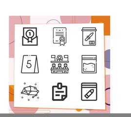 Fototapeta Simple set of 9 icons related to testimony obraz
